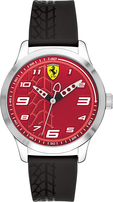 Scuderia Ferrari Reloj Analógico para Niños de Cuarzo con Correa en Silicona 840021