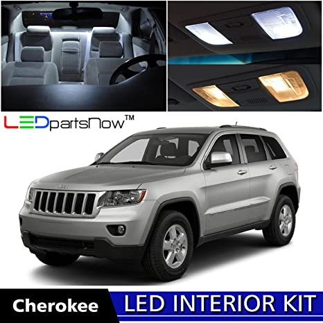 LEDpartsNow 2011 2014 Jeep Grand Cherokee LED Interior Lights Accessories  Replacement Package Kit (14