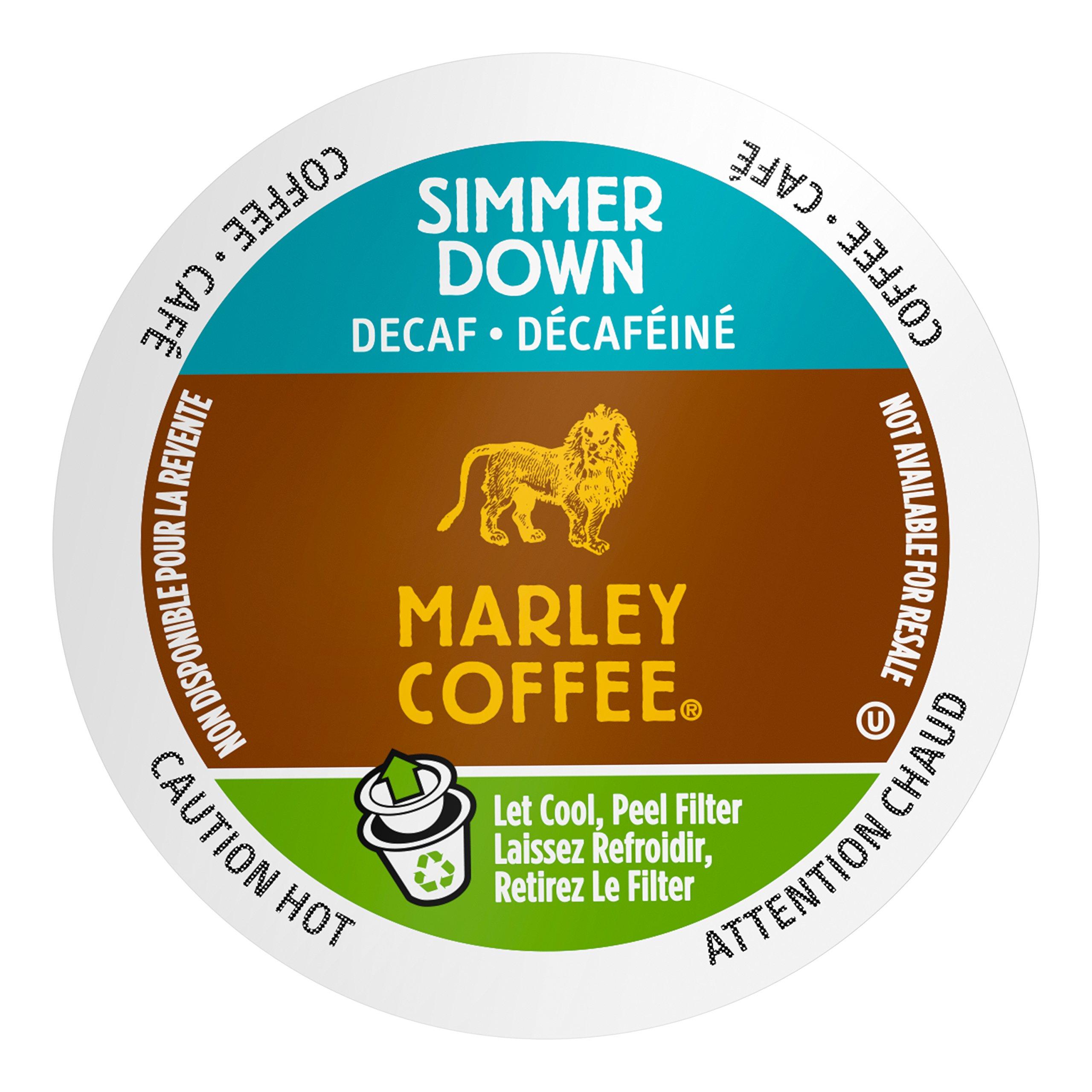 Marley Coffee Simmer Down Coffee, Decaffeinated, 24 Count