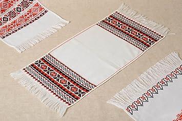 Compra Toalla bordada en punto de cruz artesanal diseno de casa elemento decorativo en Amazon.es