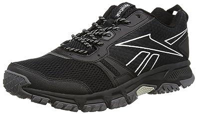 Reebok Ridgerider Trail, Chaussures de Running Homme, Noir/Gris/Argent (Noir