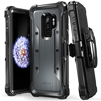 brand new b27b0 66be1 Galaxy S9+ (S9 Plus) Case, Vena [vArmor] Rugged Military Grade Shock  Absorption Heavy Duty Hard Case with Belt Clip Swivel Holster and Kickstand  for ...