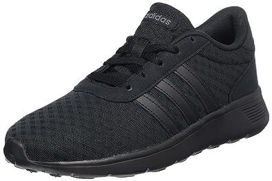 adidas Lite Racer Mens Sports Fashion Trainer Shoe Triple Black - US 8.5