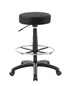 Boss Office Products B16210-BK DOT Drafting Stool in Black