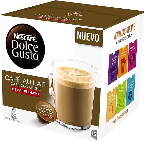 Cápsulas Dolce Gusto Café con Leche Descafeinado 16 unidades ...