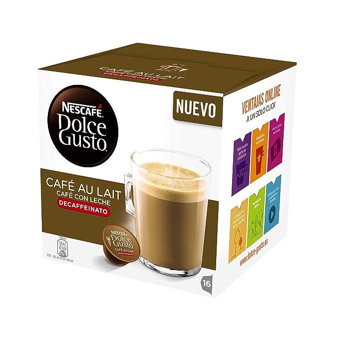 Cápsulas Dolce Gusto Café con Leche Descafeinado 16 unidades