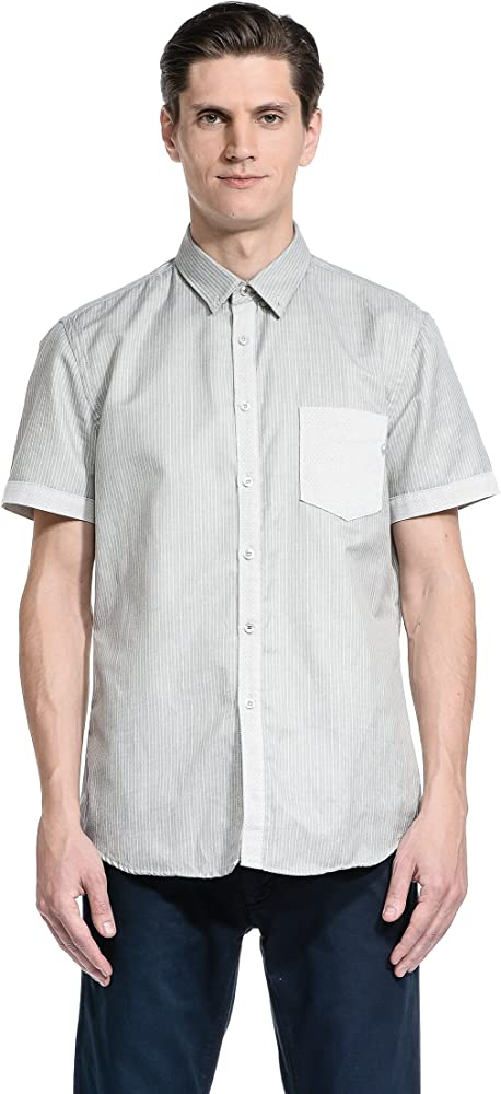 Gas-Camisa de Trabajo para Hombre Gris - Candid Grey Large: Amazon.es: Ropa y accesorios