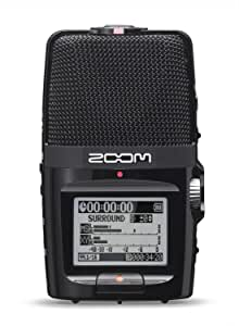 Zoom H2n Stereo/Surround-Sound Portable Recorder, 5 Built-In Microphones, X/Y, Mid-Side, Surround Sound, Ambisonics Mode, Records to SD Card, For Recording Music, Audio for Video, and Interviews