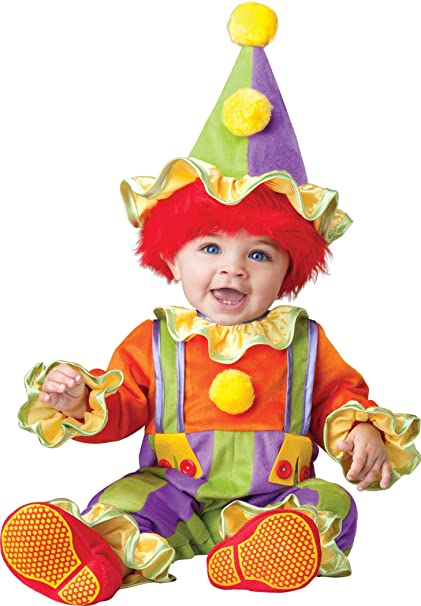 InCharacter Baby's Cuddly Clown Costume, Multi, Large