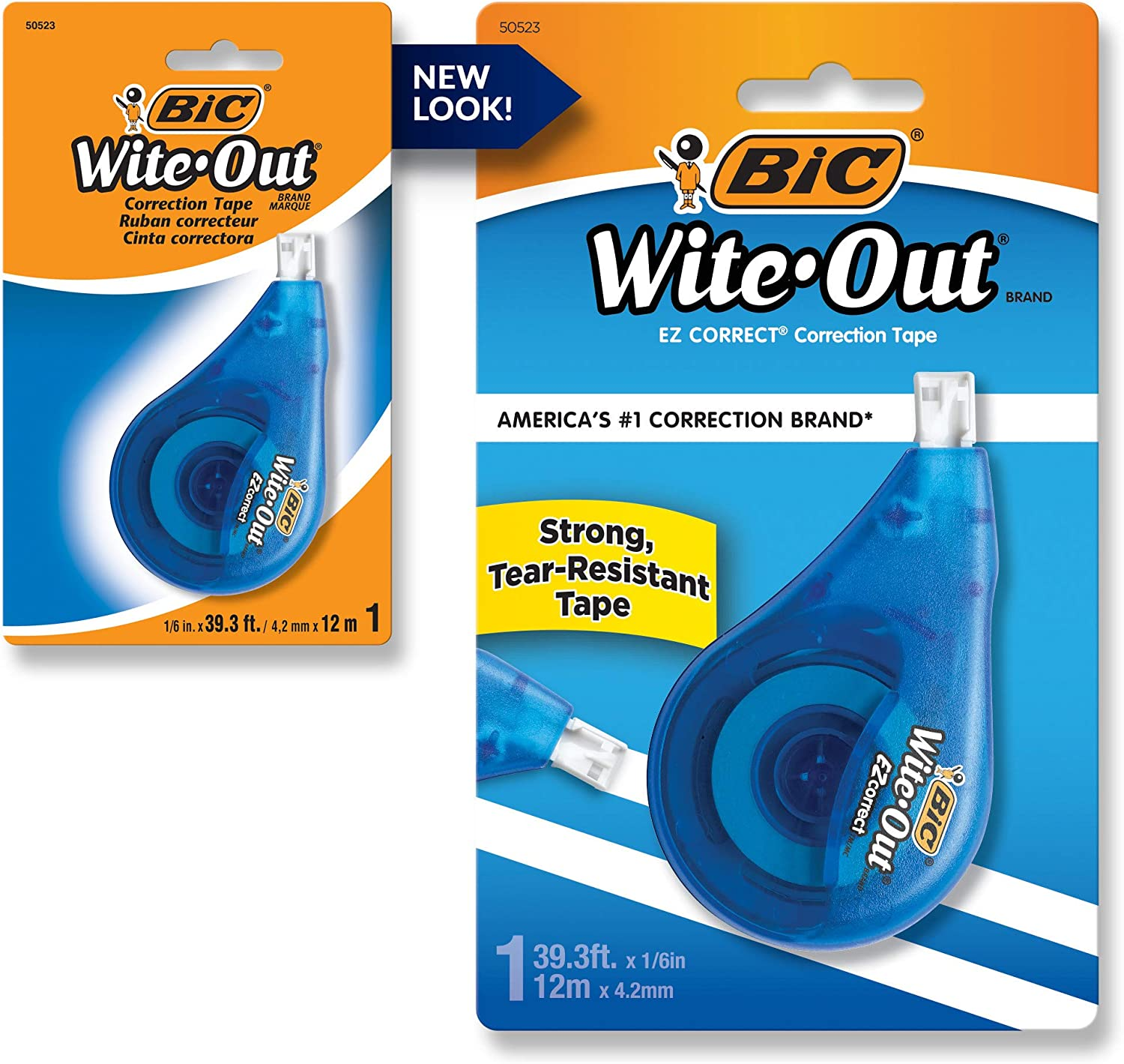 New Version White 2-Count Wite-Out Correct Grip Correction Tape