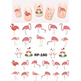 Cute Flamingo Summer Tropical Nail Art Stickers Water Transfer Decals Decorations DIY (01)