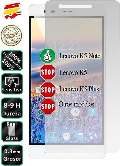 Movilrey Protector para Lenovo K5 Note 4G 5.5 Cristal Templado de Pantalla Vidrio 9H para movil: Amazon.es: Electrónica