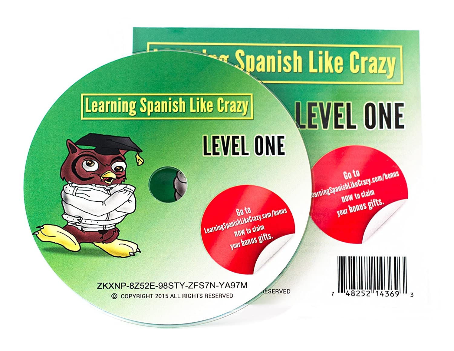 amazon com learning spanish like crazy level 1 cdr w super