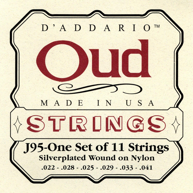 D'Addario J95 Saitensatz für Ukulele, Dulcimer, Tenor Gitarre, Oud Oud/11-String D'Addario