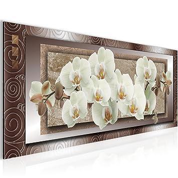 Amazon.de: Bilder Blumen Orchidee Wandbild 100 x 40 cm Vlies ...