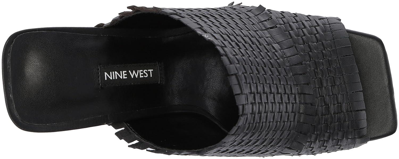 Nine West Women's Lucili Leather Slide Sandal B074NJT3VD 11 M US|Black Leather