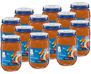 Gerber 3rd Foods Baby Food Jars, Pasta Marinara, 6 Ounce (Pack of 12)