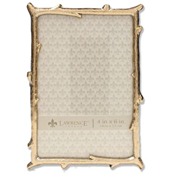 Amazoncom Lawrence Frames 4x6 Gold Metal Natural Branch Design