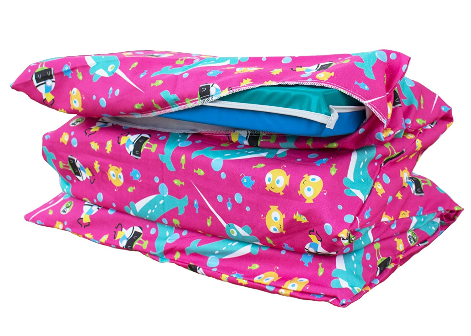KinderMat PBS Kids Full Cover Sheet Pillowcase Style Sheet Fits Basic and Toddler Regular Jr Narwhal Expedition Print 100/% Cotton Flannel 5//8 and 1 Pink Daydreamer