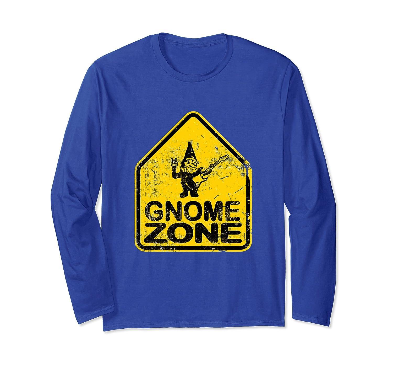 Garden Gnome Rocker Guitar Street Sign T-Shirt-Rose