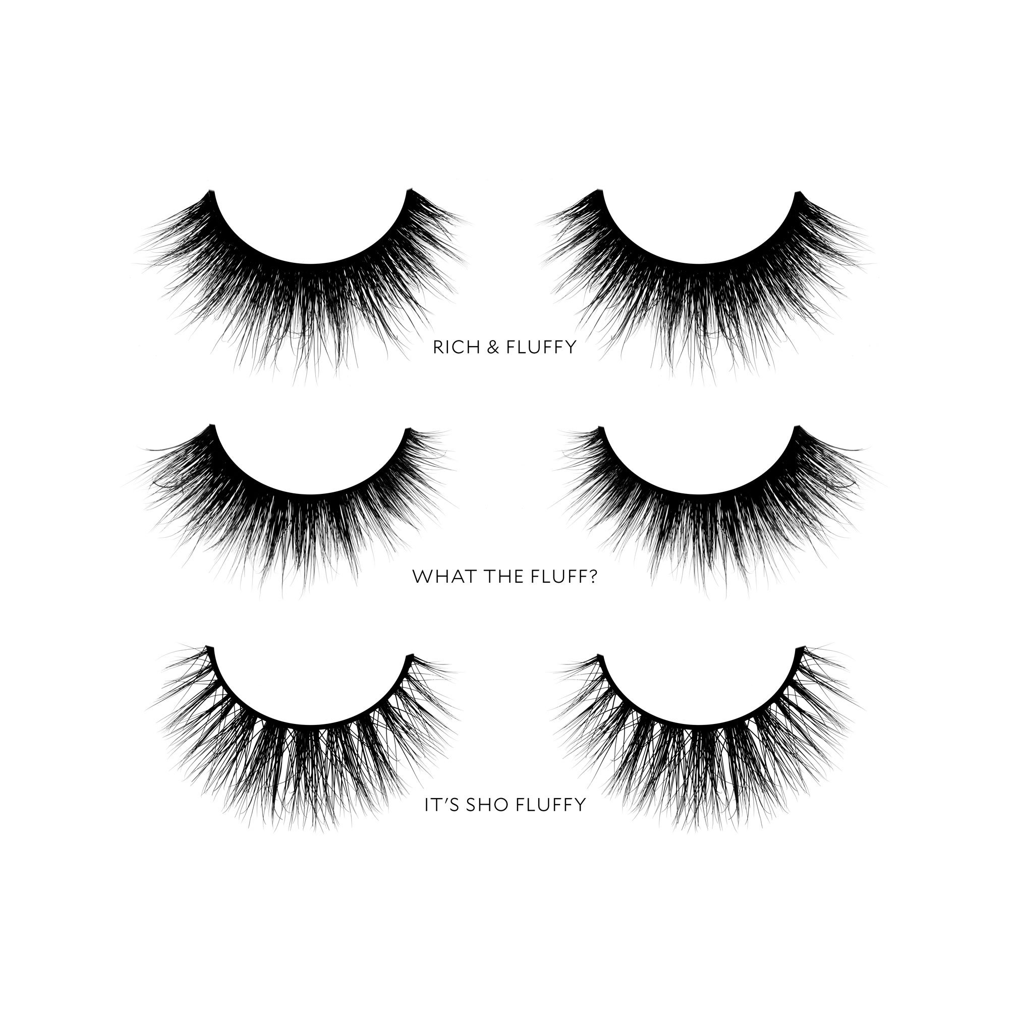 Velour Lashes - 'Thick and Fluffy' Collection (3 Pairs of Mink Lashes) - Fake/False Natural Eyelashes - Long Lasting 25+ Applications - Natural & Lightweight - Ethically Sourced - Easy Application by Velour Lashes