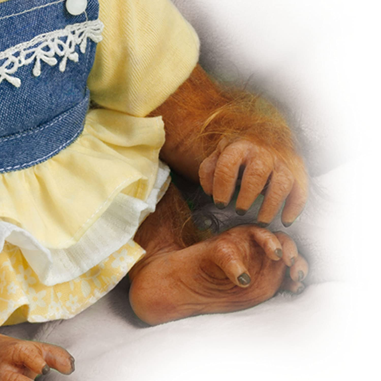 The Ashton-Drake Galleries Darling Daisy Monkey Reborn Baby Girl Doll A Cute Realistic Real Touch Baby Monkey Lifelike Doll