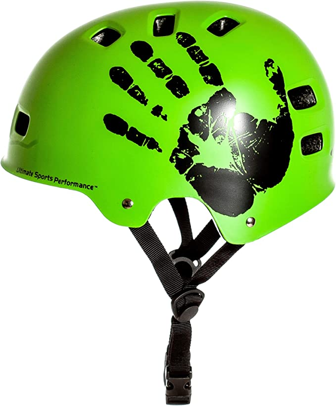 AWE MEET YOUR MAKER Helmet Green 55-58cm FREE 5 YEAR CRASH REPLACEMENT US CPSC 16 CFR 1203 Safety Standards Tested