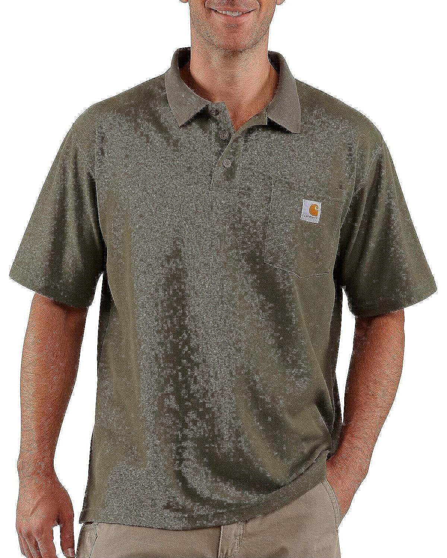 Carhartt Mens Big & Tall Contractors Work Pocket Polo Original ...