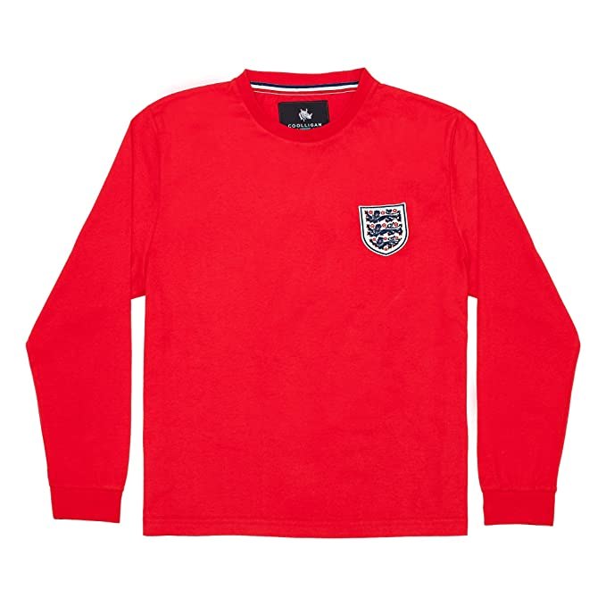 Coolligan - Camiseta de Fútbol Retro 1966 Bobby Charlton - Color - Rojo - Talla -