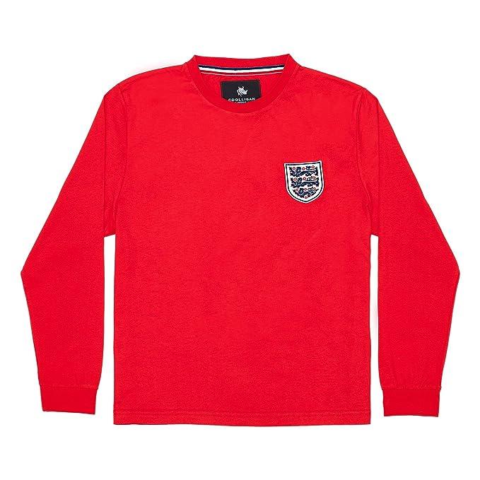 Coolligan - Camiseta de Fútbol Retro 1966 Bobby Charlton - Color - Rojo - Talla -