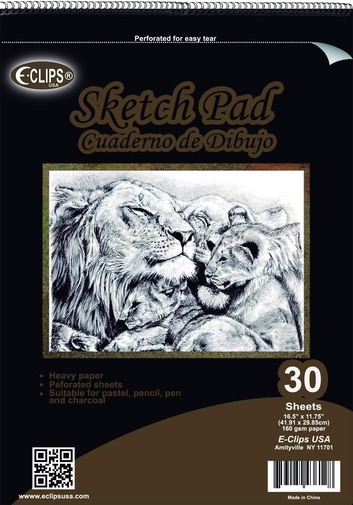Sketch Pad, 11.75'' x 16.5'', 30 Sheets, Case Pack of 12, Ideal for Bulk Buyers