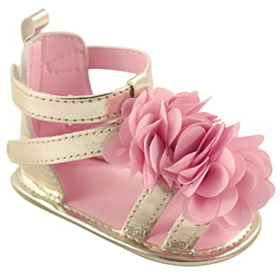 Amazon luvable friends baby girl gladiator sandal sandals luvable friends baby girl gladiator sandal pink flower 0 6 months mightylinksfo
