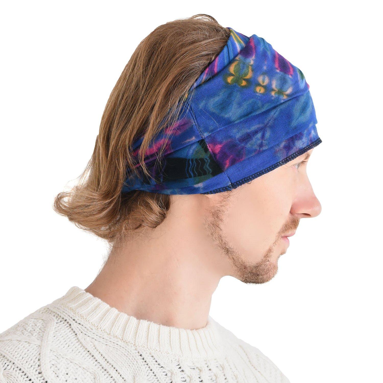 Casualbox Tie-Dye Cinta Para El Pelo Bandana Bohemio Hippie Retro Flor Psicod/élico 60S