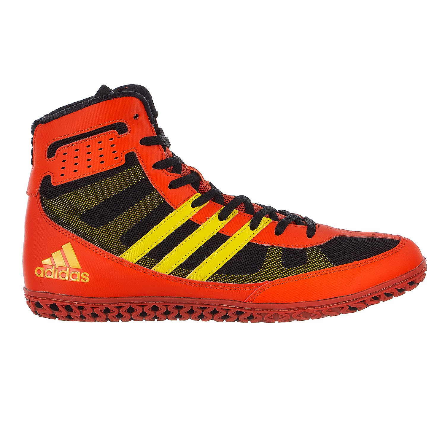 Adidas Performance Men\'s Mat Wizard.3 Wrestling Shoes Energy Red/Yellow/Black