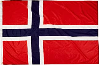 product image for Annin Flagmakers Model 196449 Norway Flag Nylon SolarGuard NYL-Glo, 4x6 ft, 100% Made in USA to Official United Nations Design Specifications