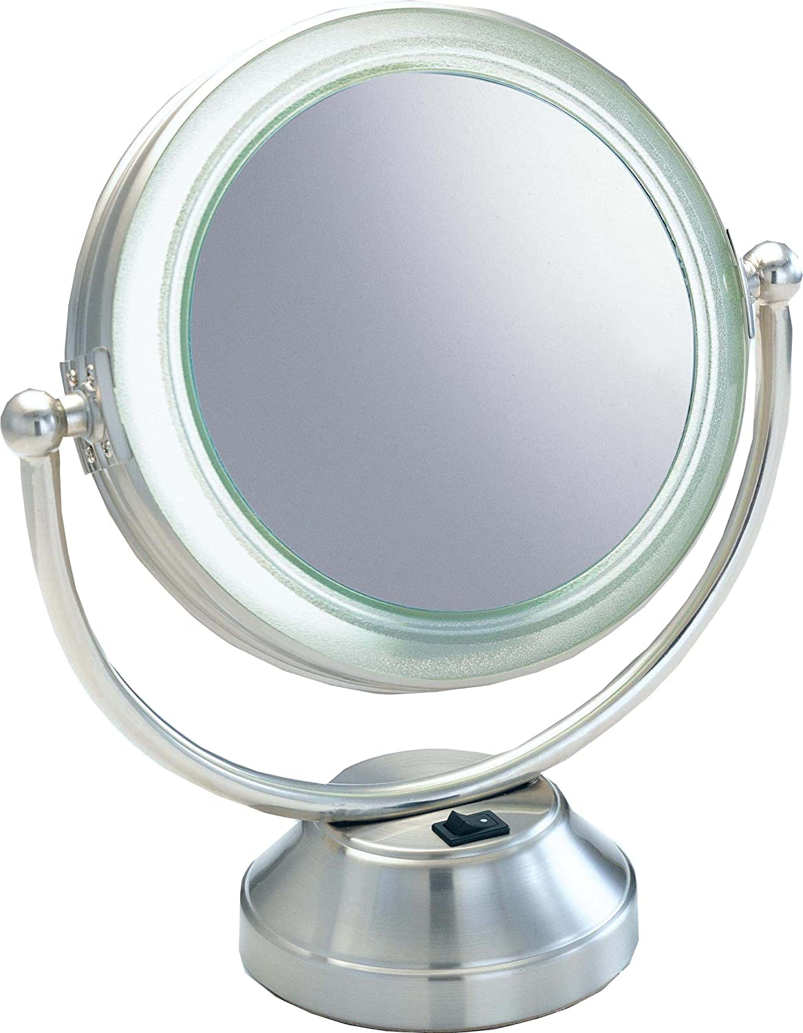 Amazon fluorescent coolitetm lighted 8 12 double sided amazon fluorescent coolitetm lighted 8 12 double sided swivel vanity cosmetic mirror 8x plus 1x in satin nickel wall mounted mirrors beauty mozeypictures Images