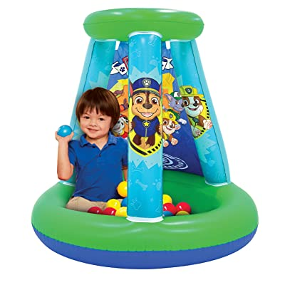 Paw Patrol Neutral Ball Pit, 1 Inflatable + 15 Sof-Flex Balls: Toys & Games