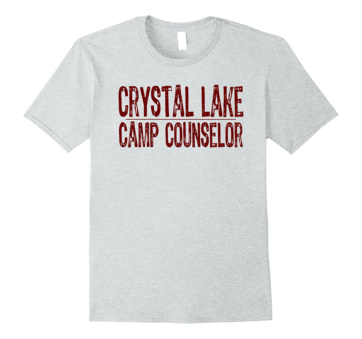 Crystal Lake Camp Counselor T-Shirt Vintage Red Text-T-Shirt