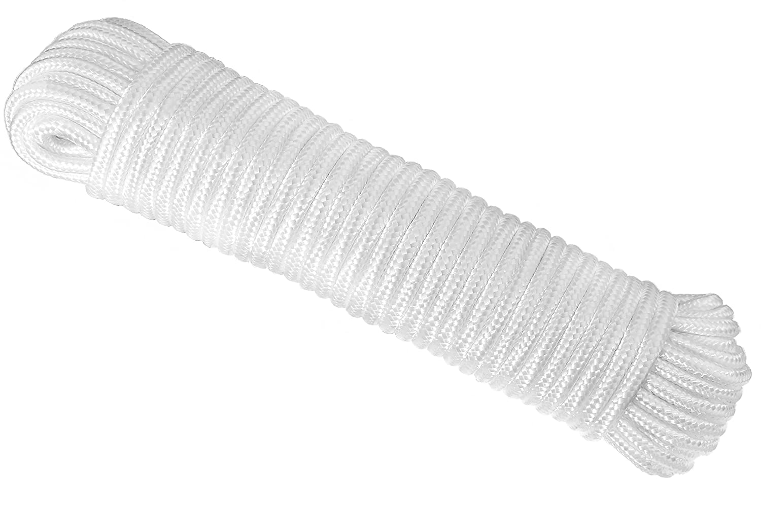 UV Resistant and Excellent Shock Absorption Diamond Braid Polypropylene All Purpose Flagline Rope High Strength RAM-PRO 80 ft Thickness /¼ inch Good for Tie Pull Climb and Knot Mix N More Inc 2394 Swing