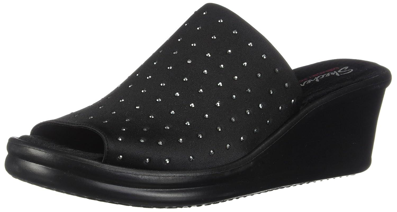 noir 36 EU Skechers Cali Wohommes Rumblers Silky Smooth Wedge Sandal