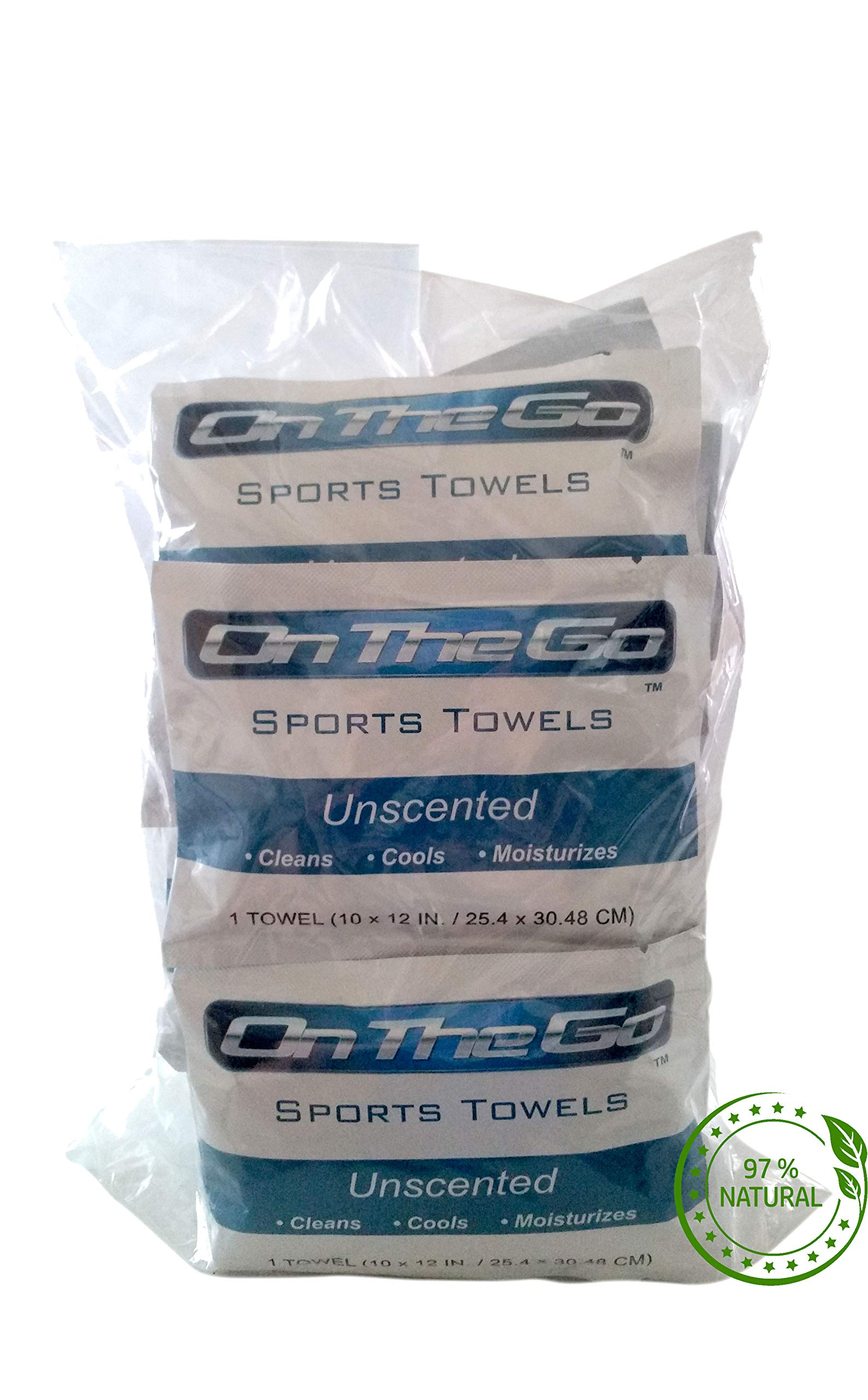 On The Go Towels Unscented Large Body Wipes (25) by On The Go Towels