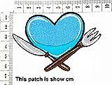 Blue Heart Fork Knife Cartoon Chidren Kids