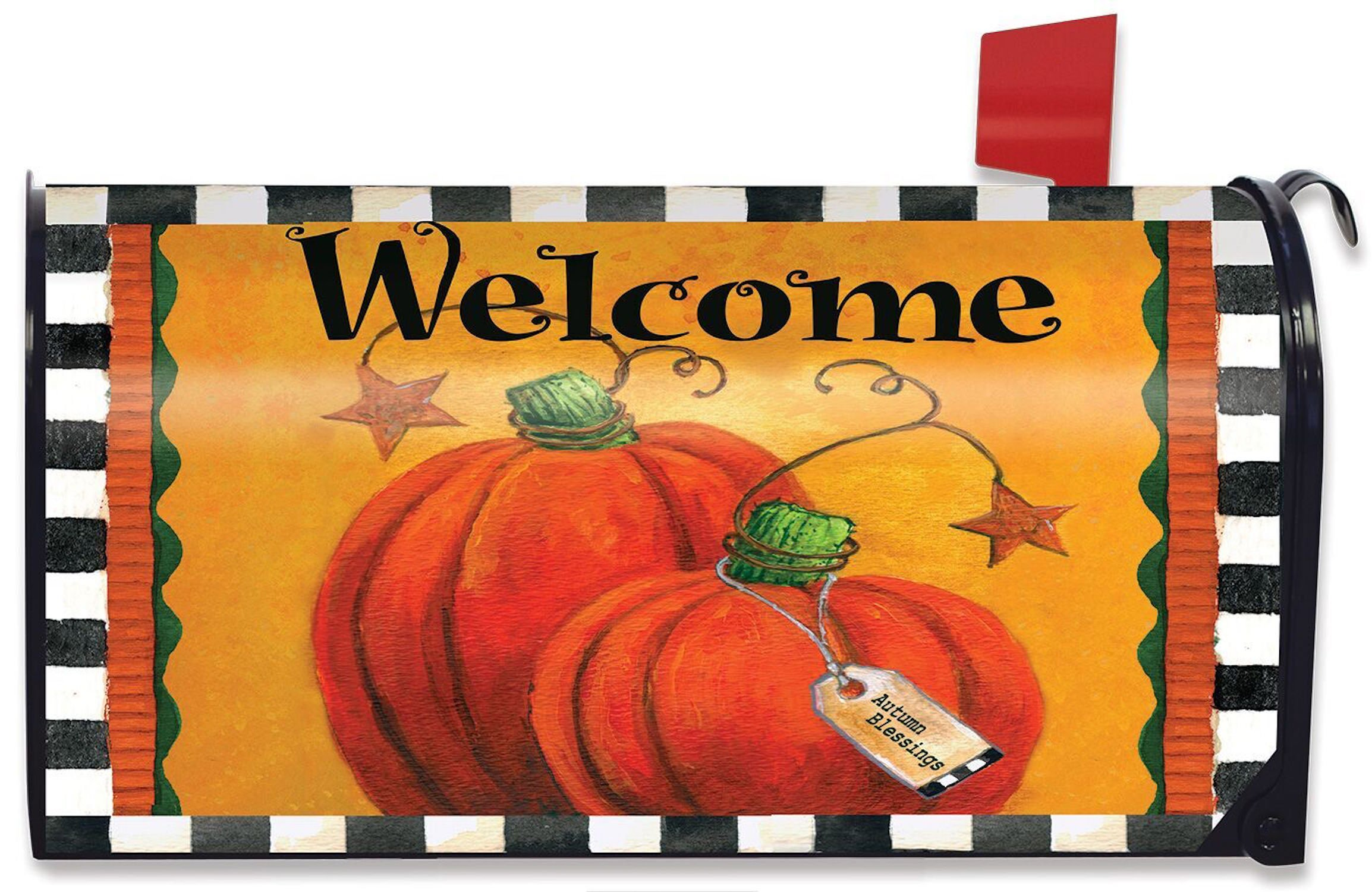 Briarwood Lane Pumpkin Autumn Welcome Primitive Mailbox Cover Fall Standard