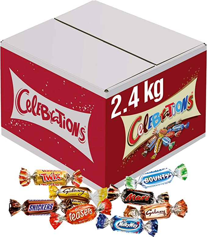 Celebrations Chocolate Bulk Box, Halloween Party Bag Fillers (Maltesers, Galaxy, Snickers and More) 2.4 kg: Amazon.co.uk: Grocery