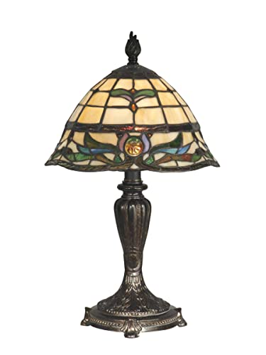 Dale Tiffany TT10087 Table Lamp, Fieldstone and Art Glass Shade