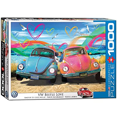 EuroGraphics VW Beetle Love 1000-Piece Puzzle: Toys & Games