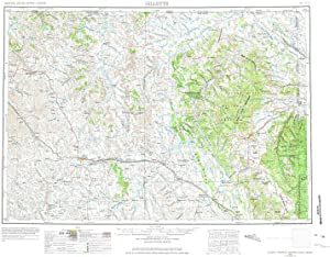 YellowMaps Gillette WY topo map, 1:250000 Scale, 1 X 2 Degree, Historical, 1954, Updated 1975, 22.1 x 29.1 in