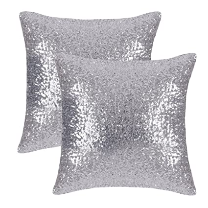 Amazoncom Pony Dance Silver Throw Pillows Sparkling Sequins