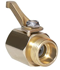 Underhill CV075H Super Heavy Duty Brass Shut Off Valve ¾-Inch Hose Thread