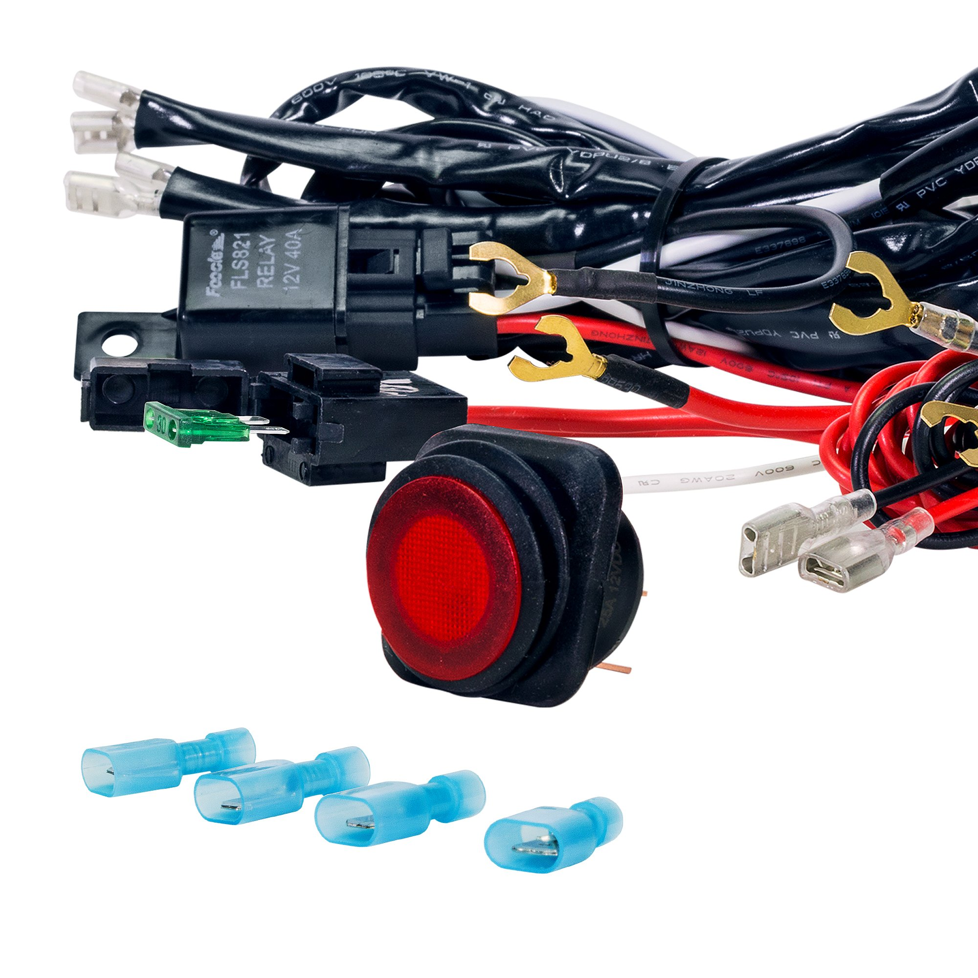 Lamphus Cruizer Off Road Atv Jeep Led Light Bar Wiring Harness Kit Double 40 Amp Relay On Switch